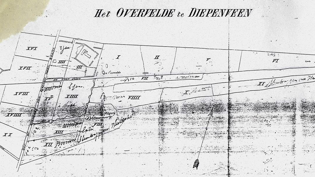 II-04_Kadastrale kaart van het landgoed in 1852